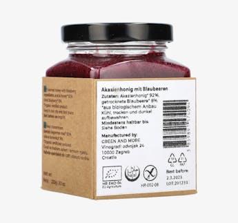 BIO Honigcreme mit Blaubeeren