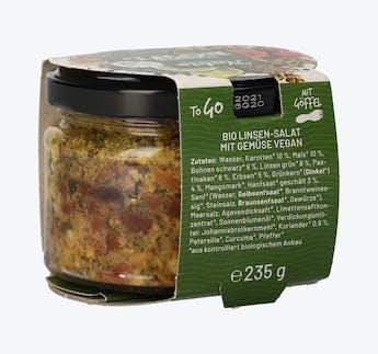 BIO Vegetarische Bowl mit Linsen und Gemüse