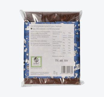 Vollmilchschokolade (38%) mit ganzen Haselnüssen - Kraftpaket