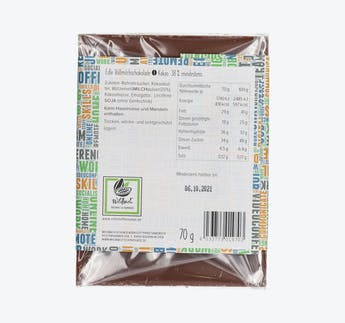 Edelvollmilchschokolade (38%) - Homeoffice Versüßer