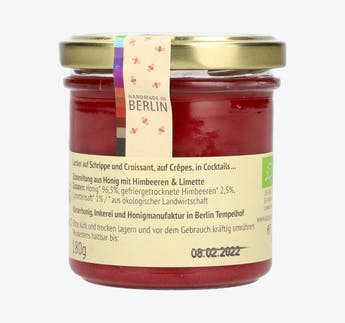 BIO Honigcreme mit Himbeere & Limette