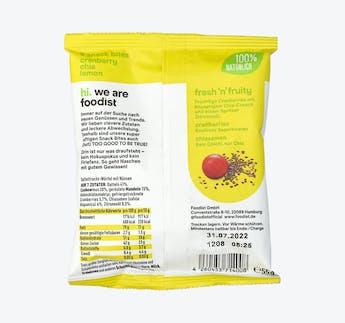 Cranberry Chia Lemon Snack Bites