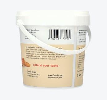 Peanut Butter mit Zimt & Vanille, 1kg Eimer