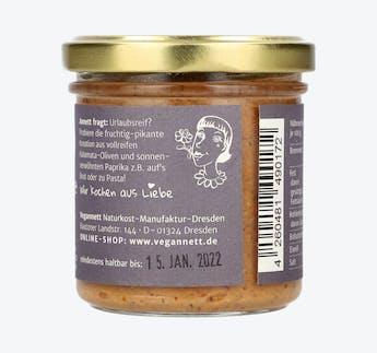 BIO Paprika-Olive Aufstrich mit Erdnuss- und Cashewmus