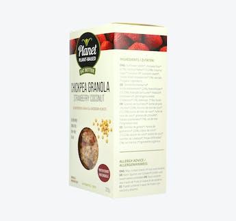 BIO Kichererbsen Granola mit Erdbeer und Kokos