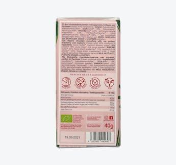 BIO vegane Schokolade mit Himbeeren und Erdbeeren