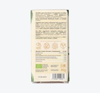 BIO vegane weiße Schokolade mit Kaffee