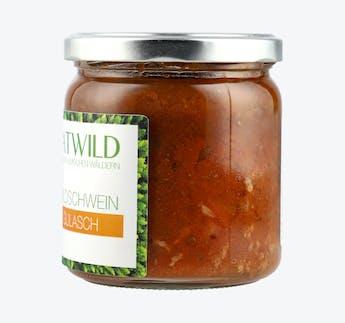 Wildschwein Gulasch in BIO Sauce