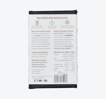 """BIO Nussbeerschokolade """"Dark Nib"""""""