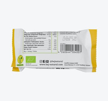 BIO Veganer Proteinriegel mit Erdnüssen