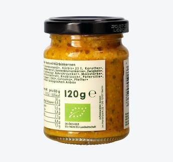BIO Gemüsepesto Kürbis mit Kürbiskern