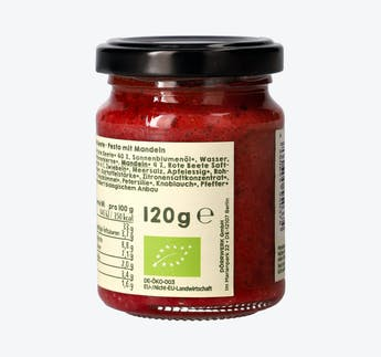 BIO Gemüsepesto Rote Beete mit Mandel