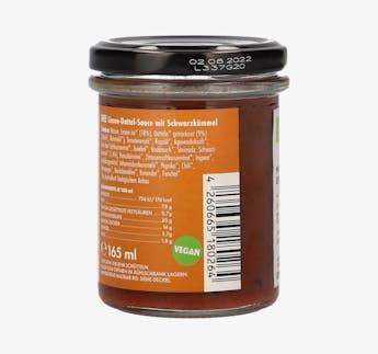 """BIO Sauce für Gemüse mit Linsen und Datteln """"Moroc'n'Roll"""""""