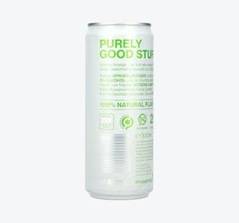 Kohlensäurehaltiges Wasser mit Alkohol, Hard Seltzer Zitrone & Limette