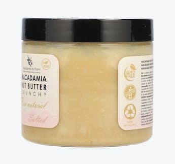 Vegane Macadamia Nussbutter crunchy, gesalzen