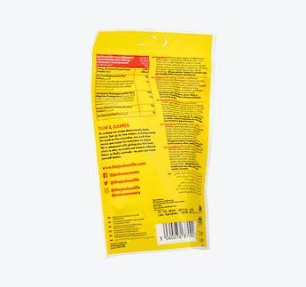"""Gummibonbons mit Apfel-Zitronengeschmack und Erdbeer-Orangengeschmack """"Tangy Worms"""""""