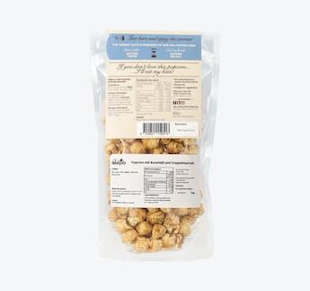 Popcorn mit Karamell und doppelten Meersalz-Mantel