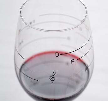 "Weinglas ""Glass of Music"""