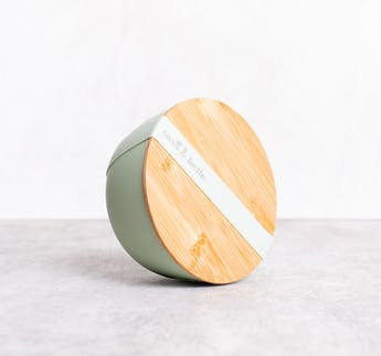 Bambusschüssel Mintgrün mit Deckel