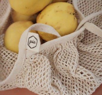 Netzbeutel aus BIO Baumwolle