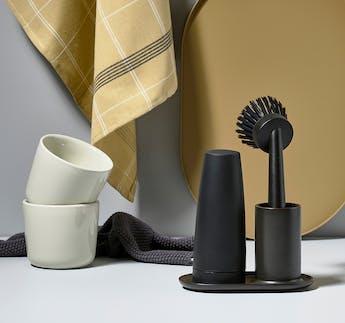 Geschirrspül Set schwarz, 3-teilig