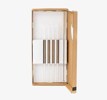 Glasstrohhalme 20cm, 4er-Pack