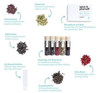 Gin Botanical Set - Zum Verfeinern von Gin Tonics