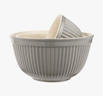 Schalensatz Set grau, 3-teilig