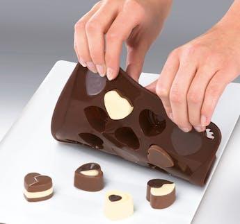 """Schokoladenform """"Süße Herzen"""" aus Silikon"""