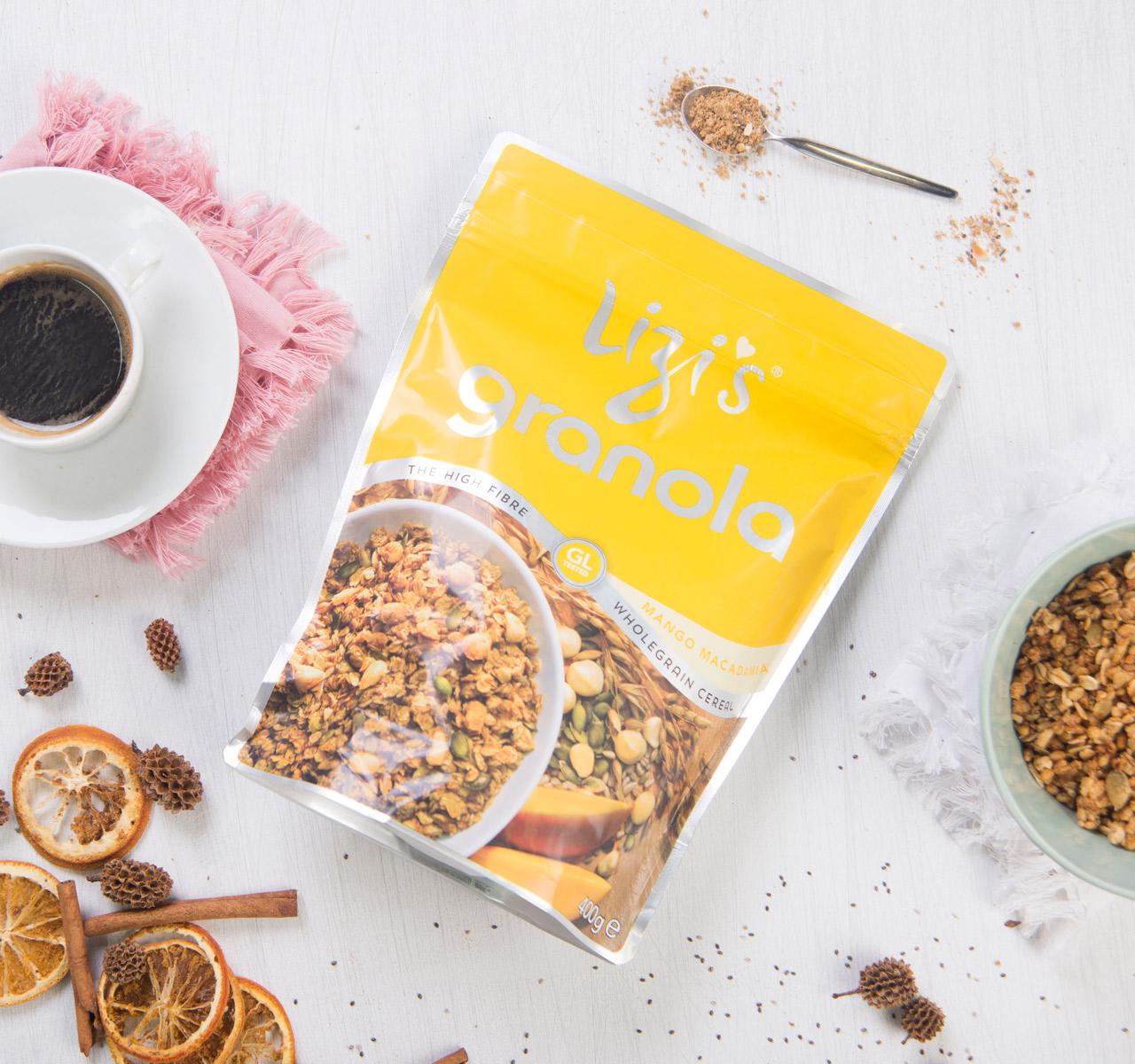 mango macadamia granola von lizi 39 s kaufen foodist. Black Bedroom Furniture Sets. Home Design Ideas