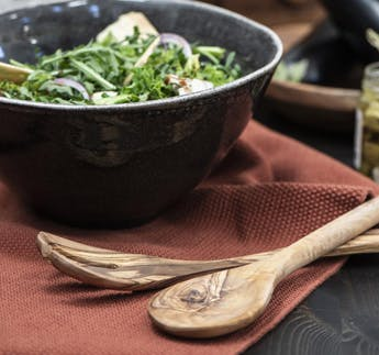 Salatbesteck Olivia UNIKA Olivenholz, 2-teilig
